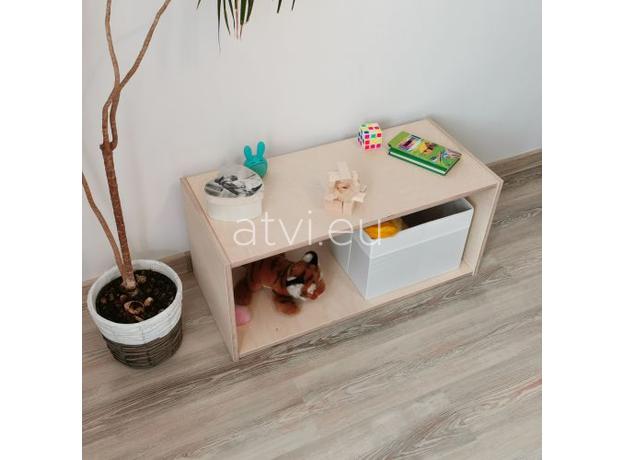 AtviKids Low Toy Shelf   Clear Coat or Transparent   Short Version, image , 4 image