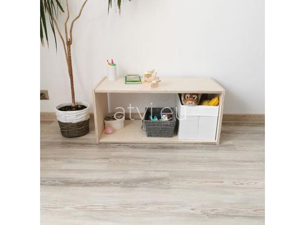 AtviKids Low Toy Shelf   Clear Coat or Transparent   Short Version, image , 6 image