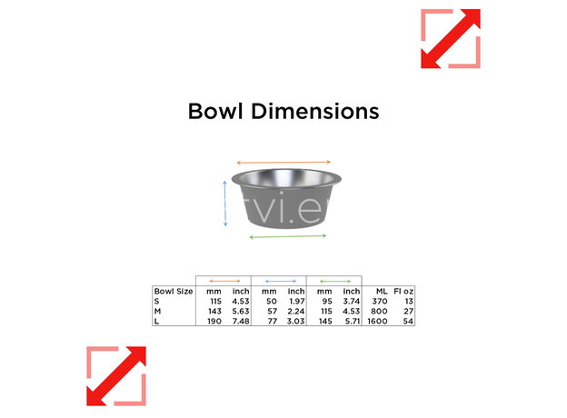 AtviPets Custom 3D Printed Pet Bowl with Name (Size M), image , 10 image
