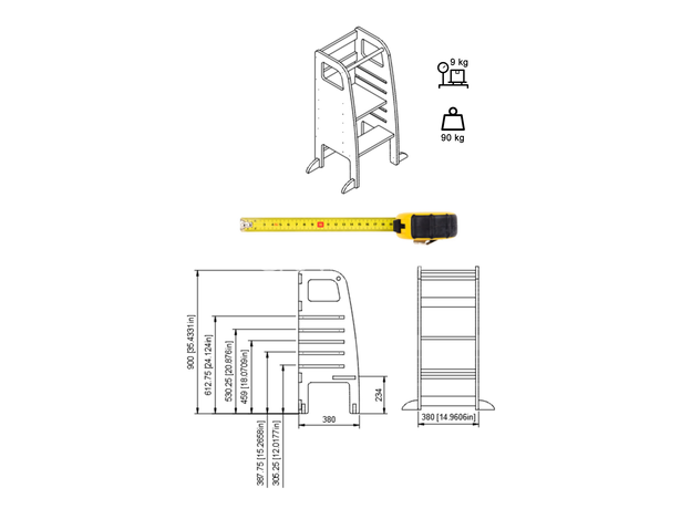 AtviKids Learning Tower Gray, image , 8 image