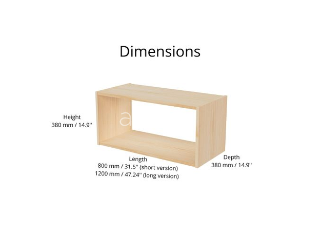 AtviKids Low Toy Shelf   Clear Coat or Transparent   Short Version, image , 8 image