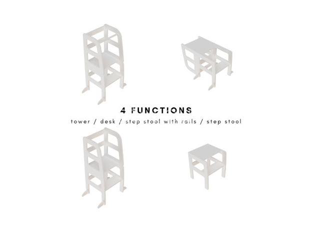AtviKids Turn de Invatare / Learning Tower Multifunctional (4 in 1) Gri, imagine _ab__is.image_number.default