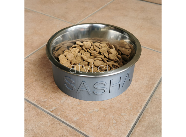 AtviPets Custom 3D Printed Pet Bowl with Name (Size S), image